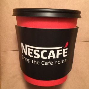 Nescafe Coffe Cups Lot with Poster